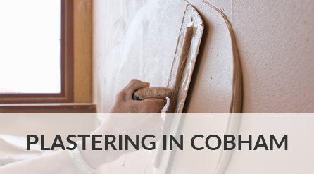 Plastering in Cobham
